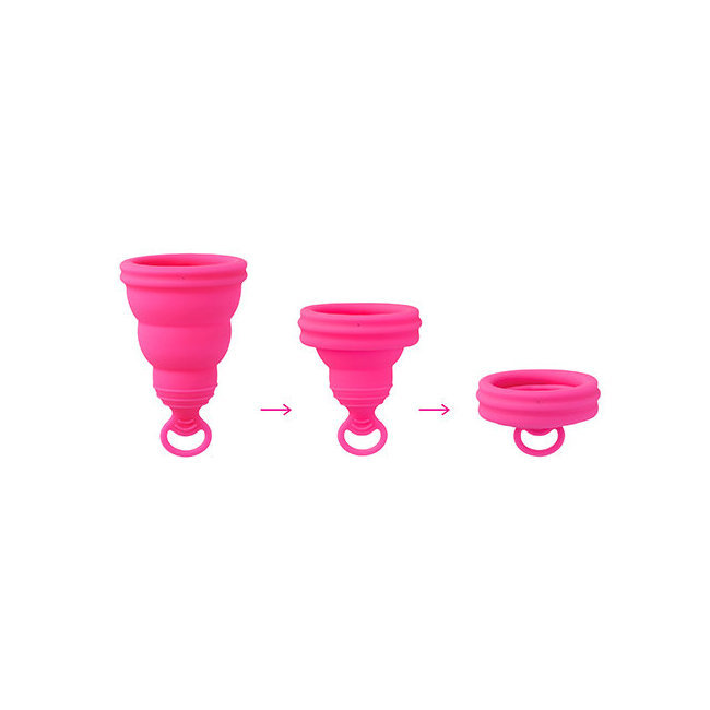 5a6088dacc La coupe Lily Cup One se replie pour se glisser dans son etui plat à glisser